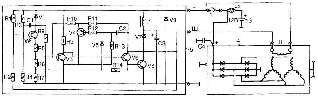 Регулятор напряжения генератора схема фото 929