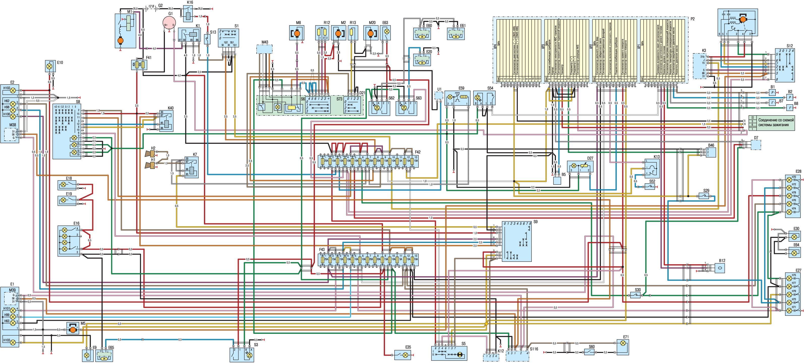 схема предохранителей газель 3302 двигатель 4215