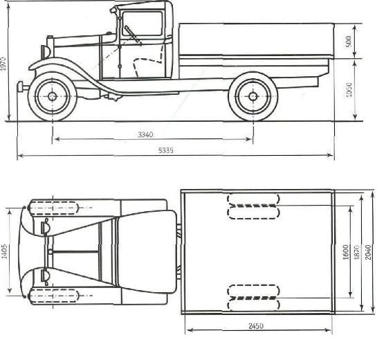 Схема автомобиля ГАЗ-АА